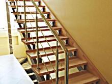 Лестница из нержавейки 1