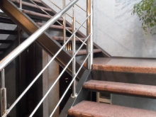 Лестница из нержавейки 2