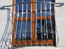 Ограждения для балконов из нержавейки (нержавеющей стали) - французский балкон)