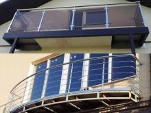 Ограждения для балконов из нержавейки (нержавеющей стали) 6