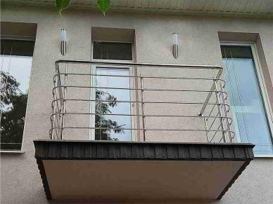 Перила на балкон из нержавейки Новоград