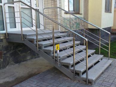 перила для лестниц из нержавейки 10