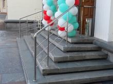 перила для лестниц из нержавейки 8