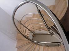 Перила из нержавейки для винтовых лестниц 5