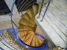 Перила из нержавейки для винтовых лестниц 1