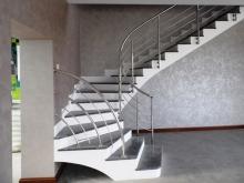 Перила из нержавейки для винтовых лестниц 2