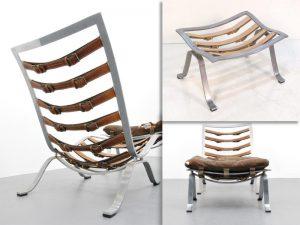 Кресло, стульчик из нержавеющей стали