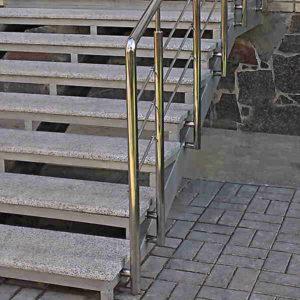Перила на лестницу из нержавеющей стали, Бюджетные перила из нержавейки, Перила из нержавейки Тернополь