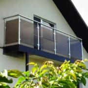 стеклянне перила цена, ограждение на балкон