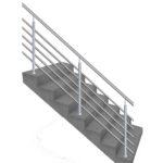 нерж перила, перила на лестницу цена, ограждение для лестницы цена Украина
