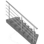лестничные перила купить, ограждение для лестницы цена за метр