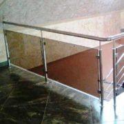 стеклянное ограждение цена за метр, стеклянные перила Украина купить