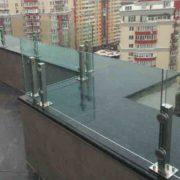 ограждение нержавейка стекло Киев цена для крыш