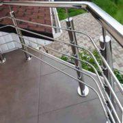перила на балкон, ограждение террасы купить, перила цена Украина Киев, перила из нержавейки