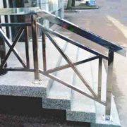 перила из нержавейки цена, ограждение на лестницу цена Киев, перила на балкон