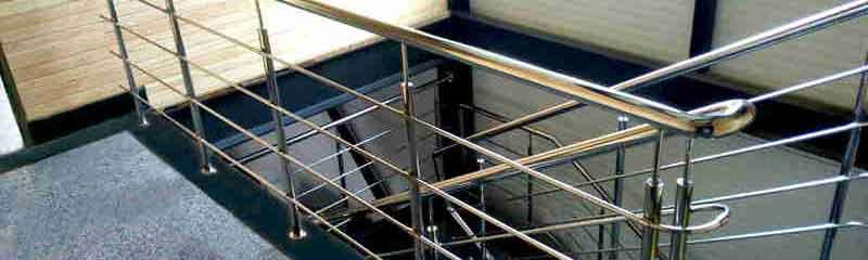 перила из нержавейки, перила на лестницу