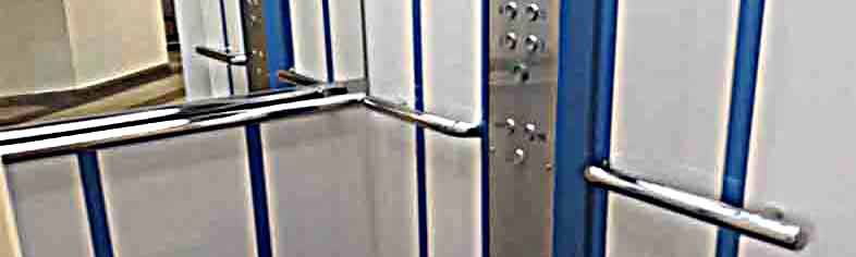 поручни для лифтовых кабин, поручни из нержавейки для лифта