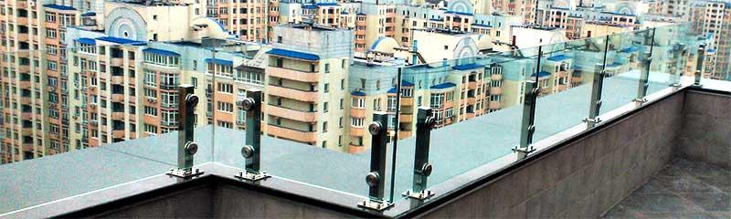 Стеклянные ограждения Киев Одесса, ограждения из нержавейки цена Киев Одесса
