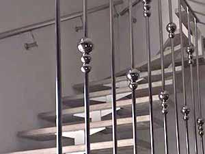 ограждение лестницы из нержавейки, ограждение для лестницы, перила Киев