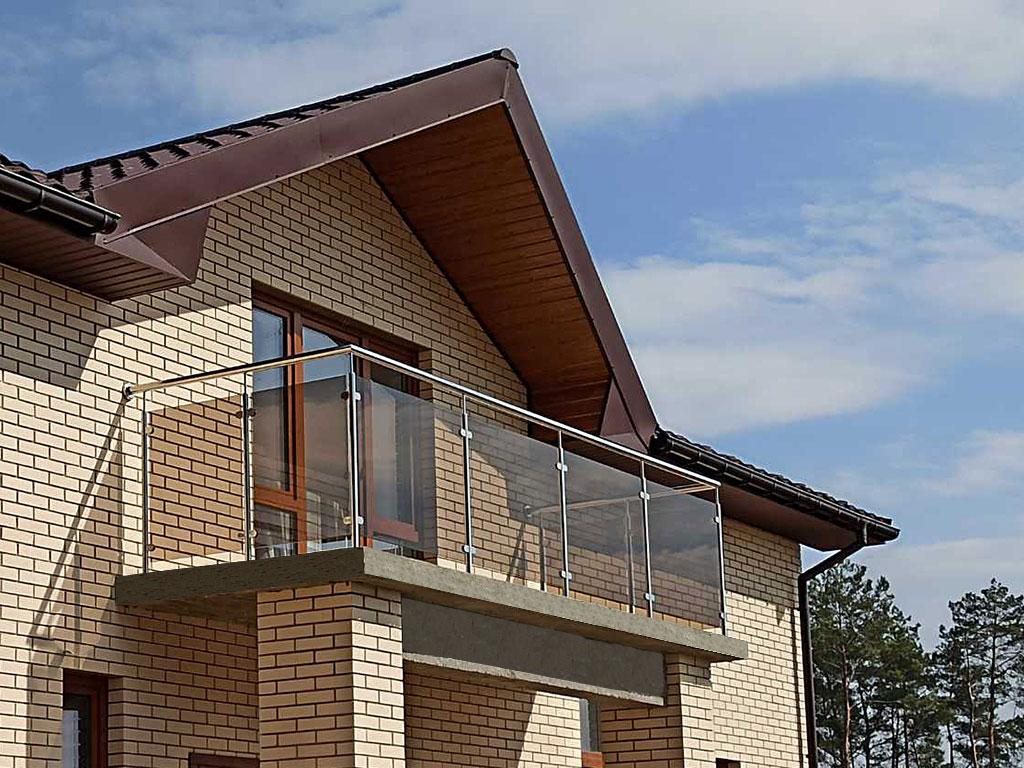 Перила, балкон, стекло, балкон из нержавейки