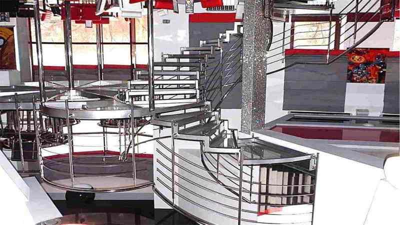 Перила из нержавейки, поручни из нержавейки, ограждение лестницы, балконые ограждения, ограждение для террасы-пандуса-балкона-ступенек из нержавейки