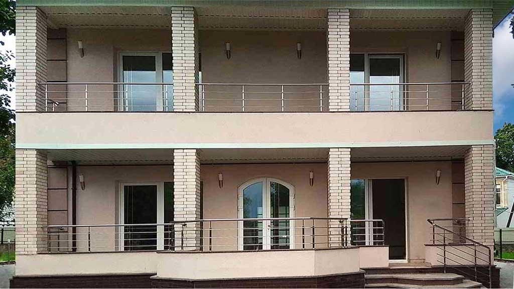 балкон из нержавейки, терраса, нержавейка, перила