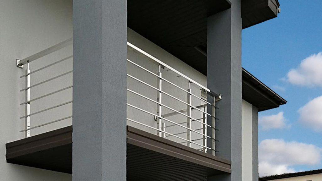 балкон из нержавейки, перила на балкон, ограждения для балкона цена