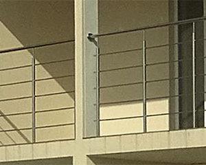 Перила на балкон, Перила из нержавейки