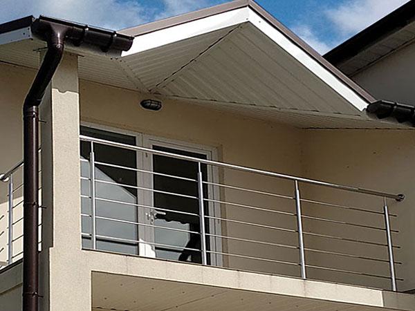 Балконные перила, Перила из нержавейки