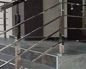 Наружные перила на ступеньки, Перила в Житомире, Перила из нержавейки Житомир